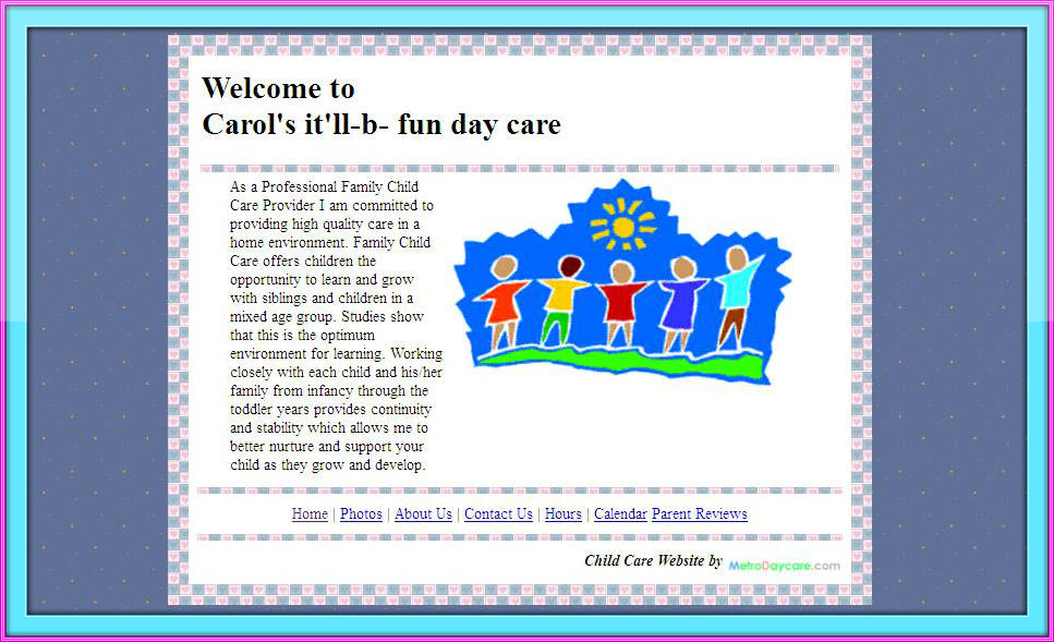 sign up here or call 1 888 227 3303 - Daycare Advertising Examples